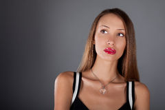 Young beautiful woman isolated Stock Image