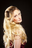 Young Beautiful Woman with Long Blond Hair. Portrait of a Young Beautiful Woman with Long Blond Hair Stock Image