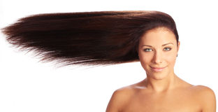 Young and beautiful woman with long hair Royalty Free Stock Photos