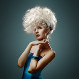 Young beautiful woman with magnificent hair Stock Images