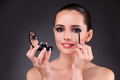The young beautiful woman in make-up concept Stock Photography