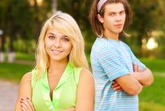 Young beautiful woman and man Stock Photos