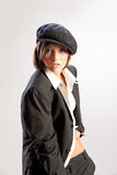 Young Beautiful Woman In Men's Suit royalty free stock photography