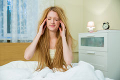 Young beautiful woman with messy hair Royalty Free Stock Photos