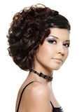 Young beautiful woman with modern hairstyle Royalty Free Stock Photo