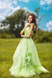 Young beautiful woman on the nature Stock Photo
