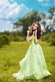Young beautiful woman on the nature Stock Image