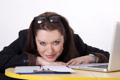 Young beautiful woman at the office Royalty Free Stock Photo