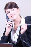 Young beautiful woman in office enviro Royalty Free Stock Photo