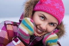 Young beautiful woman outdoor Stock Photos