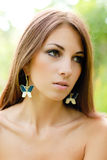 Young beautiful woman outdoor portrait Stock Photo