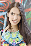 Young beautiful woman. Outdoor portrait royalty free stock photo