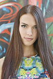 Young beautiful woman. Outdoor portrait stock photos