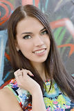 Young beautiful woman. Outdoor portrait royalty free stock images
