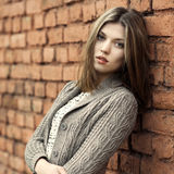 Young beautiful woman outdoor portrait stock image
