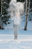 Young beautiful woman outdoor in the snow Stock Image