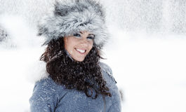 Young beautiful woman outdoor in winter Royalty Free Stock Photo