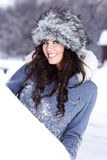 Young beautiful woman outdoor in winter Stock Image
