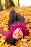 Young beautiful woman in the park Royalty Free Stock Photo