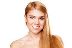 Young beautiful woman with perfect hair Stock Image