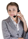 Young beautiful woman on the phone. Stock Photography