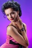 Young Beautiful Woman In Pink Dress stock photos