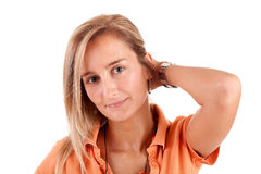 Young and beautiful woman portrait Stock Images