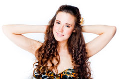 Young and beautiful woman Stock Images