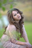 Young beautiful woman portrait outdoor Royalty Free Stock Photography