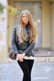 Beautiful woman portrait outdoors Stock Image