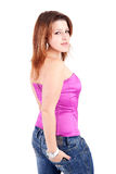 Young and beautiful woman posing Royalty Free Stock Image