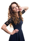 Young beautiful woman posing Stock Photos