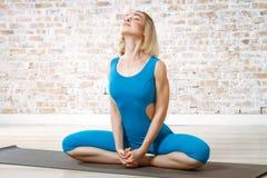 Young Beautiful Woman Practicing Yoga Royalty Free Stock Photos
