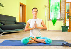 Young beautiful woman preparing for meditation Royalty Free Stock Photos