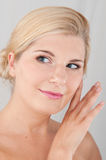 Young beautiful woman with pure healthy skin Stock Images