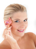 Young beautiful woman with pure healthy skin Royalty Free Stock Image