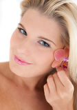Young beautiful woman with pure healthy skin Stock Image