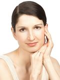 Young beautiful woman with pure healthy skin Stock Photo