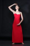 Young beautiful woman in red Royalty Free Stock Photo