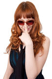 Young beautiful woman with red hair Royalty Free Stock Images