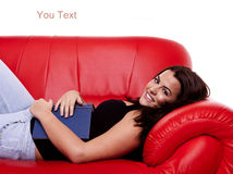 A young beautiful woman relaxing. royalty free stock photos