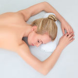 Young beautiful woman relaxing Royalty Free Stock Image
