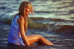 Young beautiful woman relaxing. Stock Photography