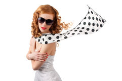 Young beautiful  woman in retro dress Royalty Free Stock Image