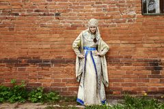 Young beautiful woman in Russian costume Royalty Free Stock Photos