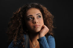 Young beautiful woman's portrait Royalty Free Stock Images
