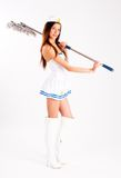 sailor with mop Royalty Free Stock Photo