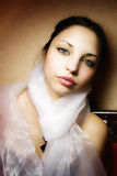 Young beautiful woman with a scarf Royalty Free Stock Photos