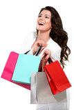 Young beautiful woman with shopping bag Stock Images