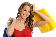 Young and beautiful woman with shopping bags Stock Photo